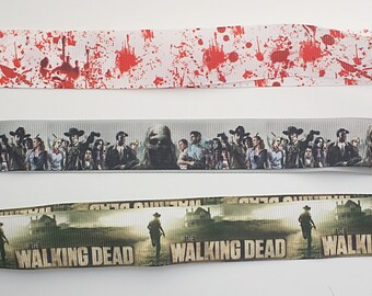 The Walking Dead - Blood Splattered Lanyard, Choice of three Styles, Keys, ID Tag, Holder, Badge, Bus Pass, Lanyards