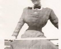 Vintage Snapshot Photo / skinny Minnie / original black and white photography / Victorian Girls