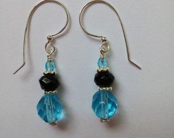 Aqua Nights earrings, short version