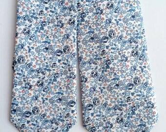 Blue Liberty of London Print Tie, men's necktie, custom wedding necktie, Blue necktie, bespoke tie, groomsmen bow tie, floral tie