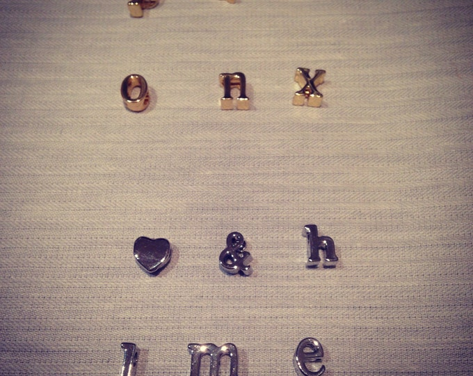 Letter charms in silver