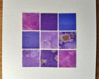 "Purple 4x4"" Paper Quilt Unframed"