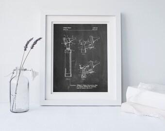 Otoscope Patent Print, Gift for Doctor, Medical Art, Medical Decor, PP0978