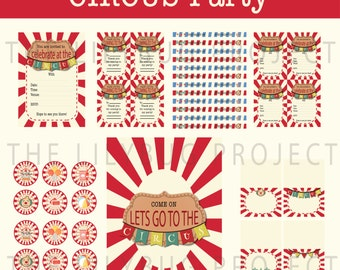 Printable Party Set - Circus