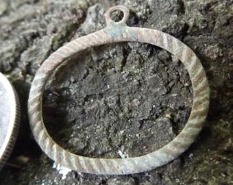 Civil War Soldier's Rope Border Necklace Pendant, Dug From Union Cavalry 1862-64 Camp in South Louisiana, Authentic, Rare, Antebellum Era