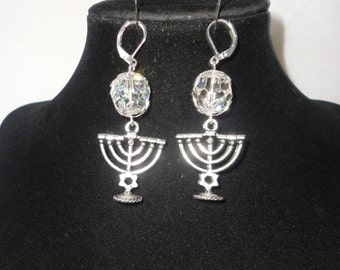 Vintage Austrian Crystals MENORA Earrings*****.
