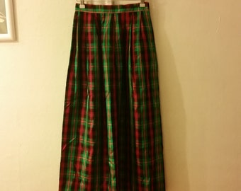 1980s/80s Vintage womens christmas skirt, size extra small, small/xs/s