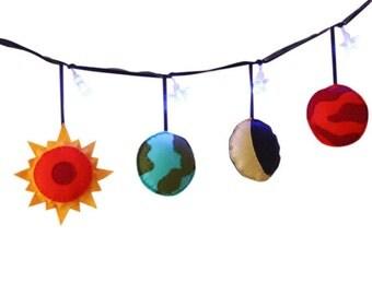 Solar System Fairy Lights- Planets, Boys Room Decor, Girls Room Decor,  Space theme, Girls Birthday gift, Boys Birthday gift