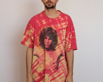 90s Tie Dye Doors Shirt Mens Large