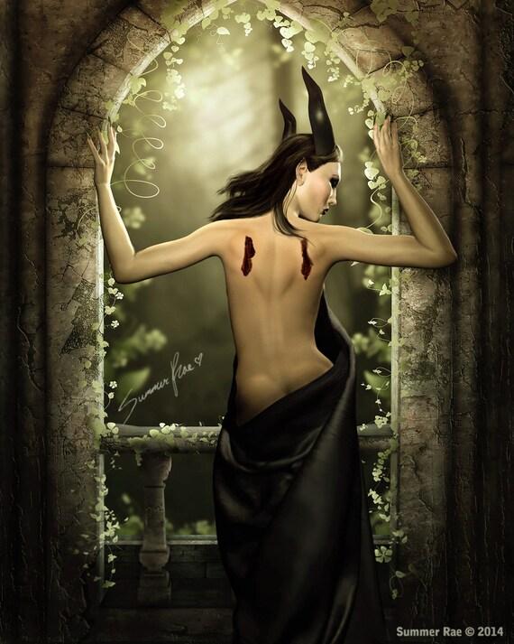 Maleficent Dark Queen Dark Fairy Gothic Art Fantasy Art-3990