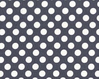 Polka Dot Fabric, Dotted Fabric - Ta Dot, Michael Miller Fabric CX 1492 Graphite - 1 /2 yard
