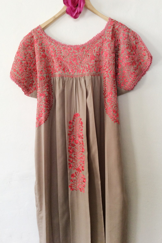 Mexican embroidered dress oaxaca mexico abundant splendid