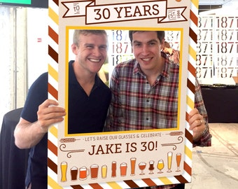 Cheers & Beers Birthday Photo Prop - DIGITAL FILE - Any Age Photo Prop - 30th, 40th, 50th Birthday Photo Prop - Printed Option Available