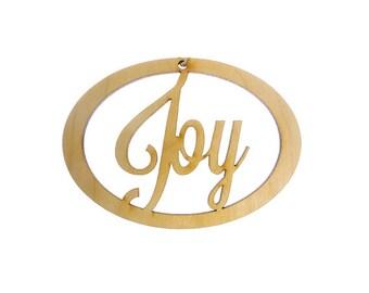 Joy Ornament - Joy Ornaments - Joy Decorations - Joy Decor - Joy Christmas Ornament - Joy Christmas Ornaments - Personalized Free