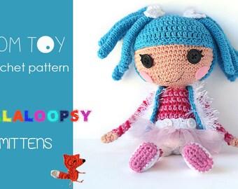 Crochet PATTERN Lalaloopsy Mittens amigurumi doll