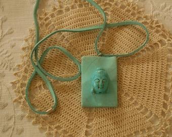 Buddha Pendant, Vintage and Turquoise. (293)