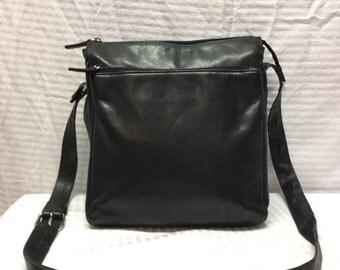 Wilson's Pelle Studio, Black Leather, Purse, Bag, Shoulder Bag
