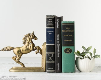 Vintage Horse Bookend -- Brass Horse Bookend -- Horse Decor -- Brass Book End -- Equestrian Decor