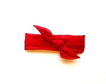 Red Dolly Bow Tie Up Wire Headband