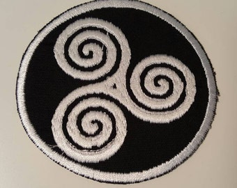 Triple Spiral, Wiccan Patch