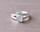 Tipsy Herkimer Diamond Ring