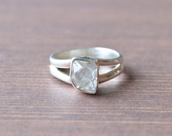 Tipsy Herkimer Diamond Ring