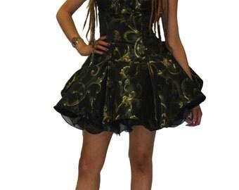 Black and Gold Sculpt Dress