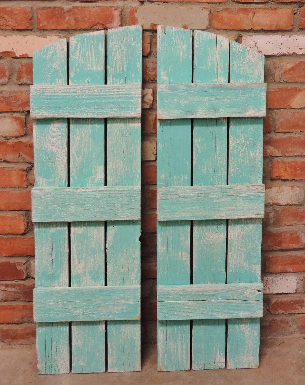 Rustic window shutters 2 36 tall x 1075 wide for Barnwood shutters