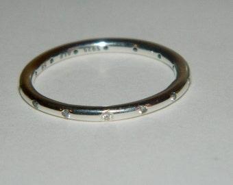Authentic Pandora Ring Sparkling Droplets S925 Ale 190945 CZ Size 58 US 9