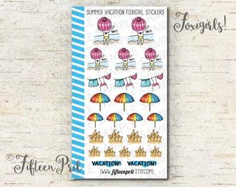 Summer vacation foxigirl stickers -J599