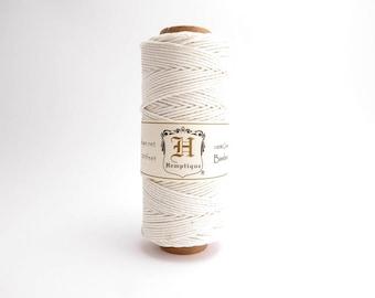 Hemptique blanc bambou cordon 1mm 62,5 m, cordon Hemptique, bambou blanc, blanc Hemptique cordon, en macramé blanc, BBS0007