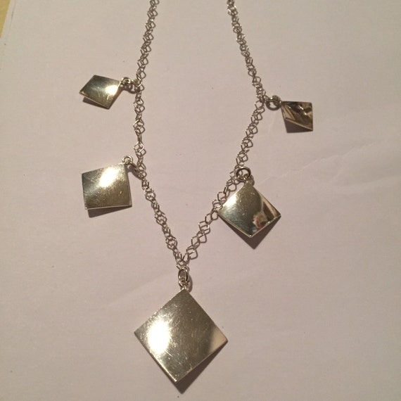 italian sterling necklace 16 5 chain italy 925 silver
