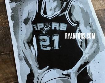 Tim Duncan - San Antonio Spurs Print