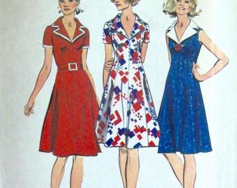 Vintage 1972 Dress Pattern Simplicity 5401 Size 14