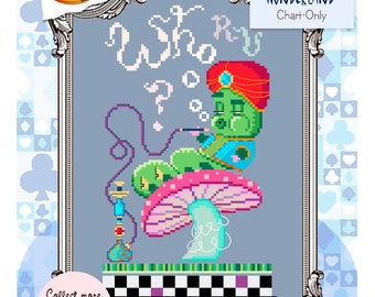 Brooke's Books Wonderland Caterpillar Cross Stitch Chart-Only (Instant Download)