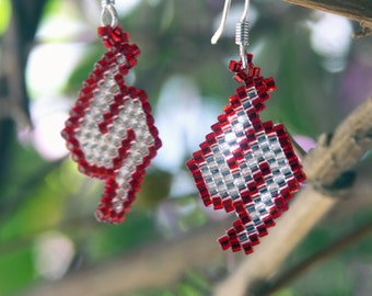 Metroid-Themed Beaded Earrings