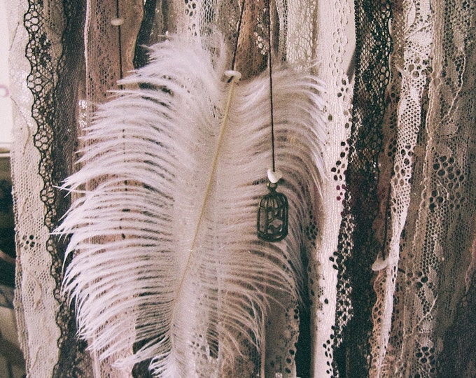 Gypsy Dreamcatcher - Boho Bedroom - Gypsy Hippy Decor - Bohemian Wall hanging Dream Catcher - Lace Dreamctcher - Boho Chic