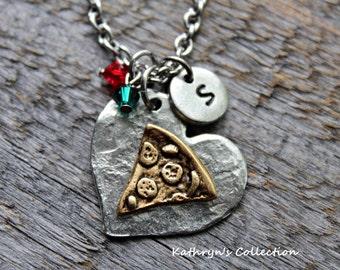 Pizza Necklace, Pizza Slice, Italian Food, Pizza