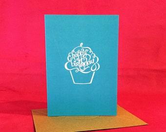 Happy Birthday Greeting / Note Card | Custom Hand Drawn Design
