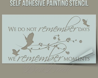 We do not remember...  - One Time Use Self-Adhesive Wall Painting Stencil, Art Stencil, Airbrush Stencil, Paintining stencil, stenciling