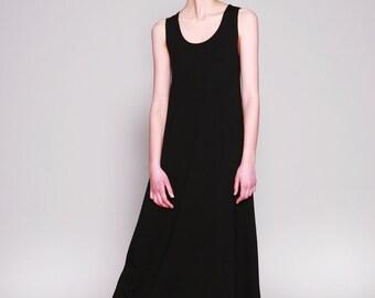 Sleeveless Maxi Dress, Black Dress, Long Summer Dress, Loose Fit, Spandex, Minimalist, Casual Dresses, Maxi Dress Summer, Casual Dresses