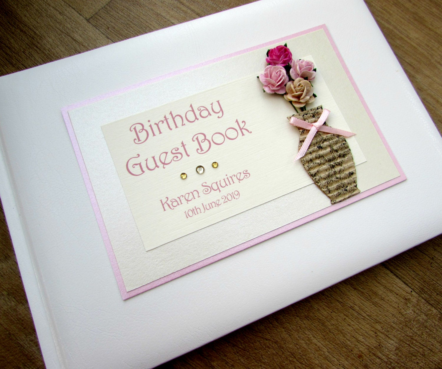 Photo Book Guest Book: Birthday Guest Book Personalised 70th 80th 90th 100th Birthday