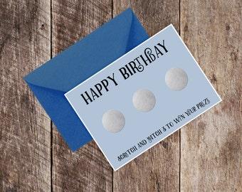 Funny Birthday Card - Scratchcard Blo*Job / Boyfriend / Humour / Scratch / Husband / Partner