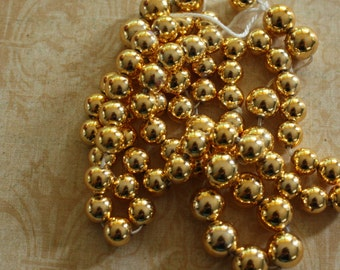 Vintage Gold Round 8mm Beads (48 pieces)
