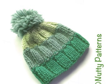 Knitting Pattern * Ray Hat * Beanie * Circular knitting * Instant pdf #511 * baby toddler child teen adult * super bulky * easy * unisex