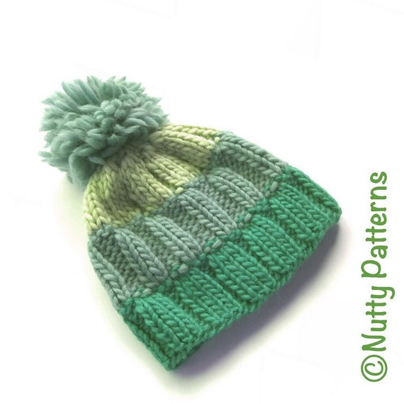 Knitting Pattern Ray Hat Beanie Circular knitting