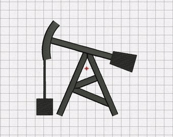 Oil Rig Embroidery Design in 2x2 3x3 4x4 5x5 and 6x6 Sizes