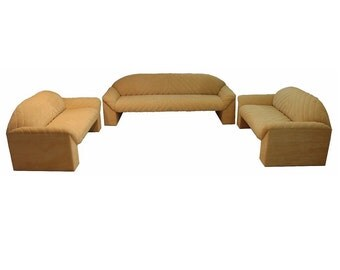 Mid Century Modern Harvey Probber Set of 3 Sofa and 2 Loveseats