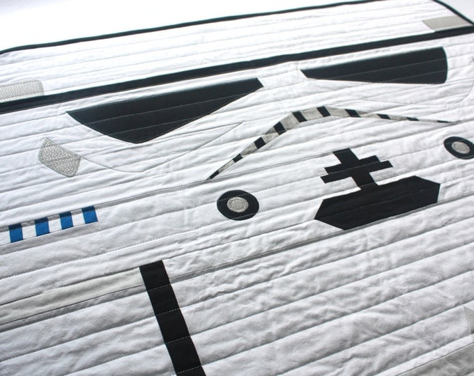 Star Wars baby quilt--Stormtrooper baby quilt
