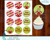 Grinch Cupcake Toppers | Who Christmas Birthday Grinchmas | Printable INSTANT DOWNLOAD file